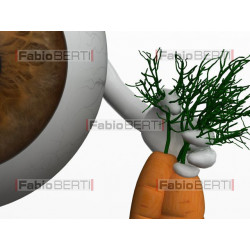 eye with carrots