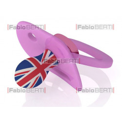 UK baby pacifier pink