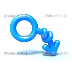 man symbol down knot