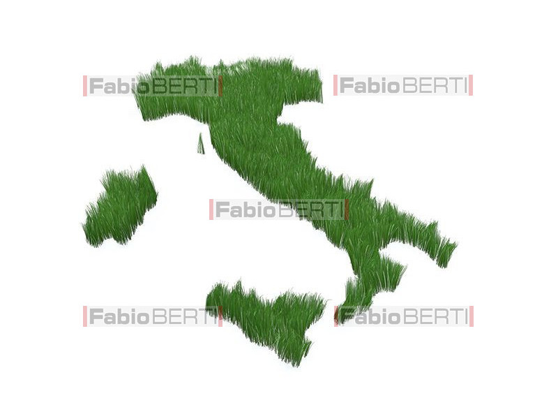 italy with grass