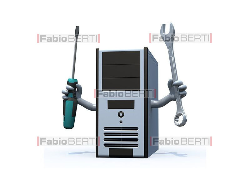 computer with tools