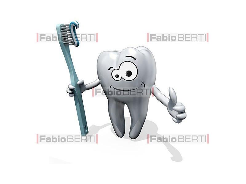 dente con spazzolino