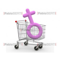Cart with symbol woman
