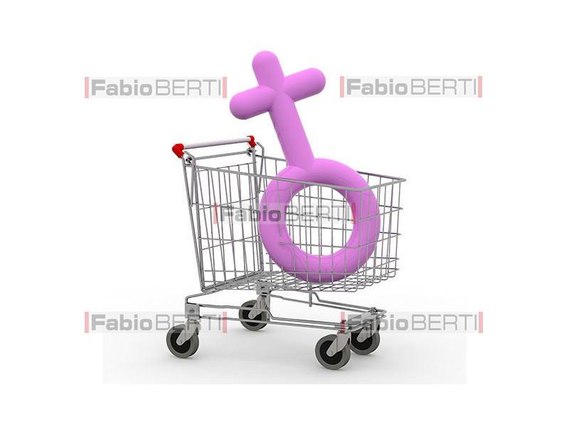 carrello con simbolo donna