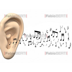 ear with musical notes