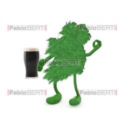 ireland green beer mug