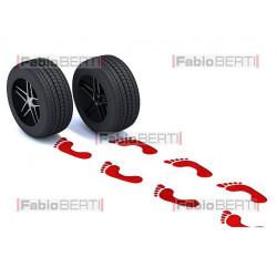 red footprints tires
