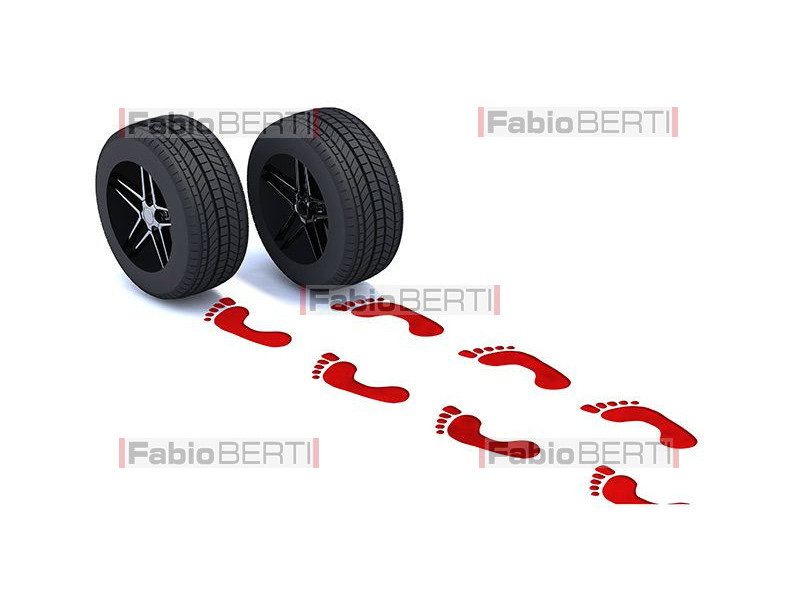 red footprints tires