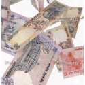 rupee banknotes in the air
