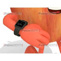 mela con orologio