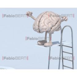 cervello tuffo su libro