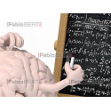 brain and blackboard with math formula