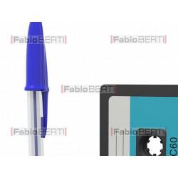 audiocassetta con biro