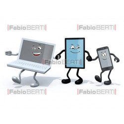 notebook, tablet e smartphone