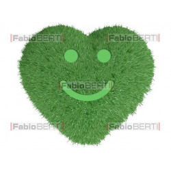 green heart smile