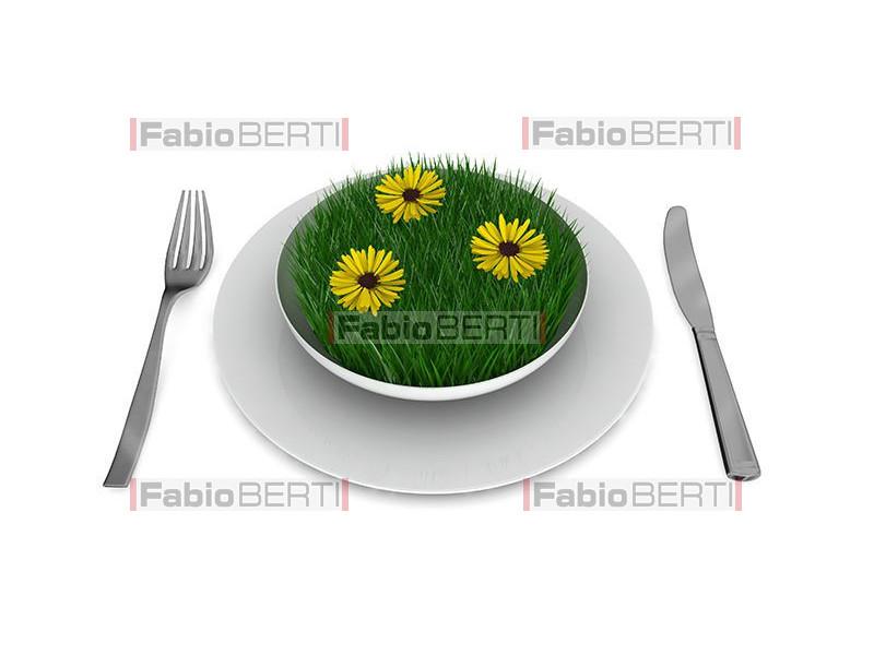 erba sul piatto