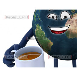 world with coffee