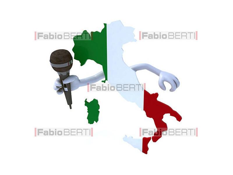 Italia con microfono