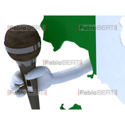 Italy with microphone