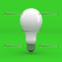 bulb white on green