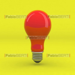 bulb red on yellow