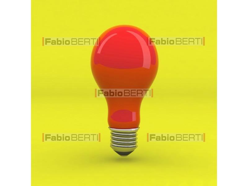 bulb white on green
