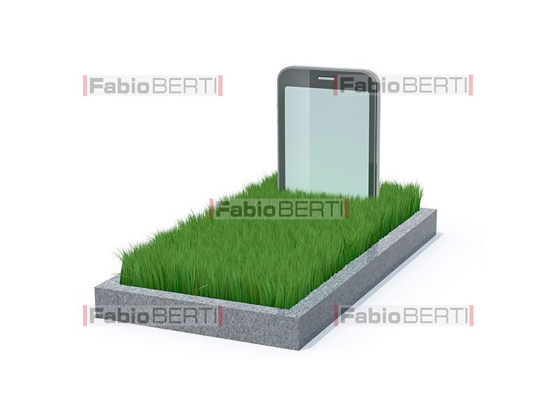 the grave of a smartphone