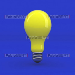bulb yellow on blue