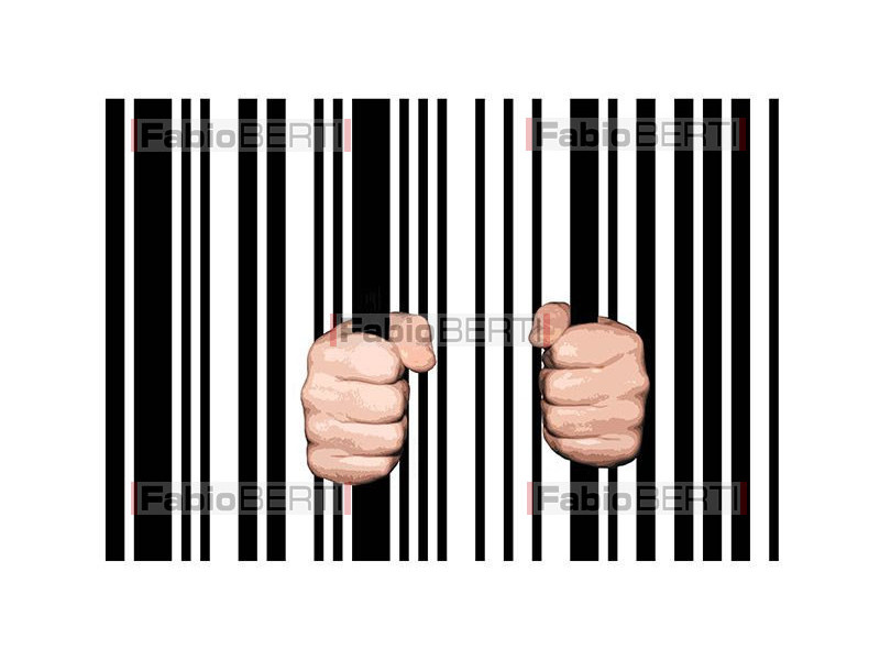 two hands on bar code