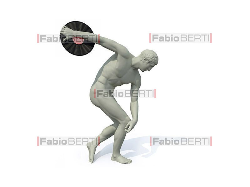 discobolus statue launches a vinyl record