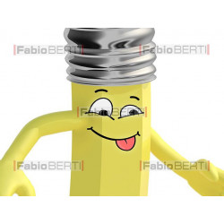 matita gialla cartoon