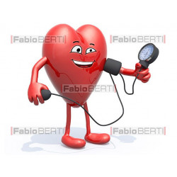 cartoon heart measuring pressure