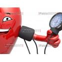 cartoon heart measuring pressure
