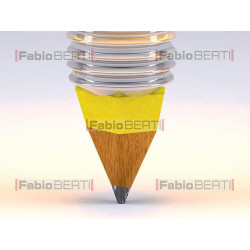lampadina gialla e matita