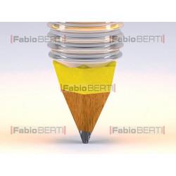 yellow lightbulb and pencil