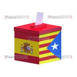 urna elettorale spagna/catalogna