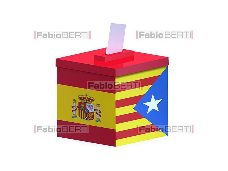 ballot box spain/catalonia