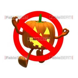 halloween ban road sign