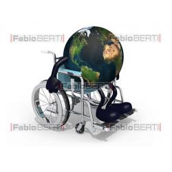 world in a wheelchair