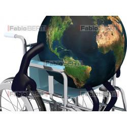 mondo su sedia a rotelle
