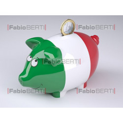 Italy money piggy box