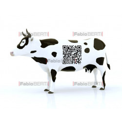 Mucca codice a barre qr