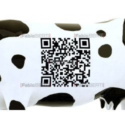 cow with qr barcode