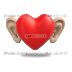 cuore con le orecchie