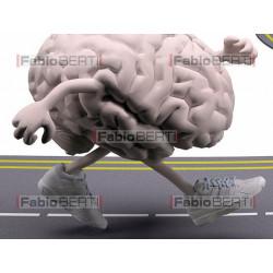 cervello jogging su strada