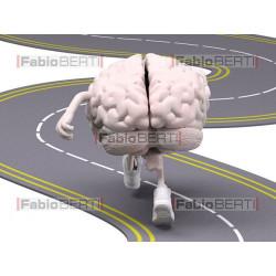 cervelli jogging su strada