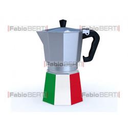 moka with Italian flag