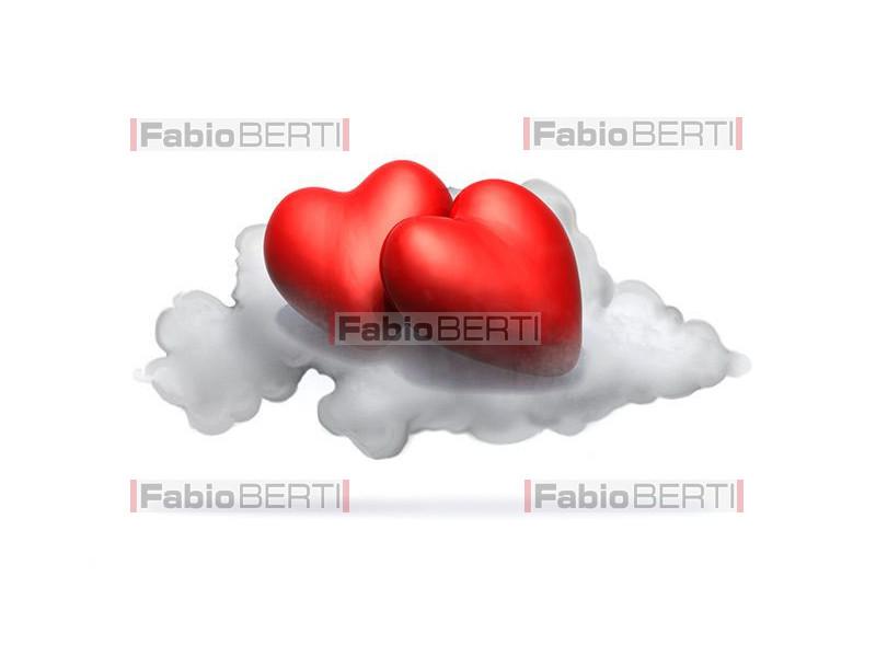 hearts on a cloud