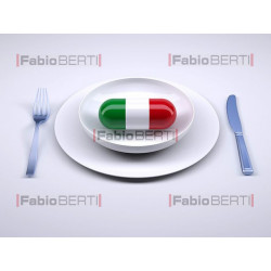 pillola Italia dentro al piatto
