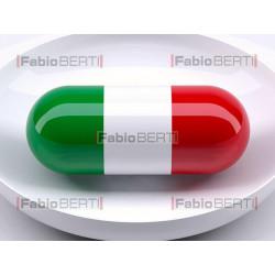 Italian flag pill inside the plate